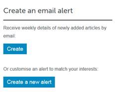 Create email alert